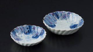 紫陽花小鉢と紫陽花中鉢