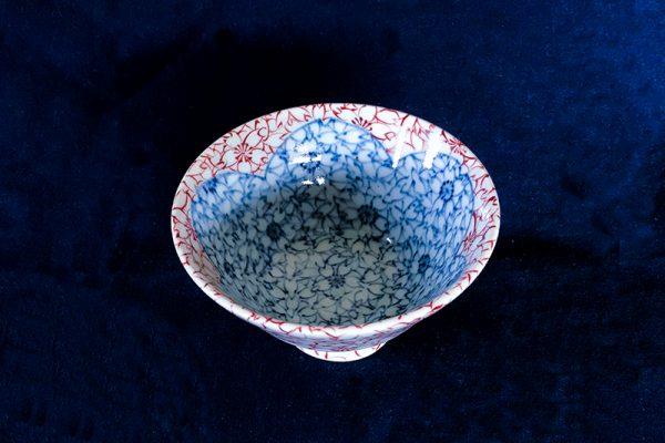 桜ミニ茶碗斜め上