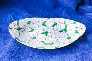 グリーン木の葉前菜皿